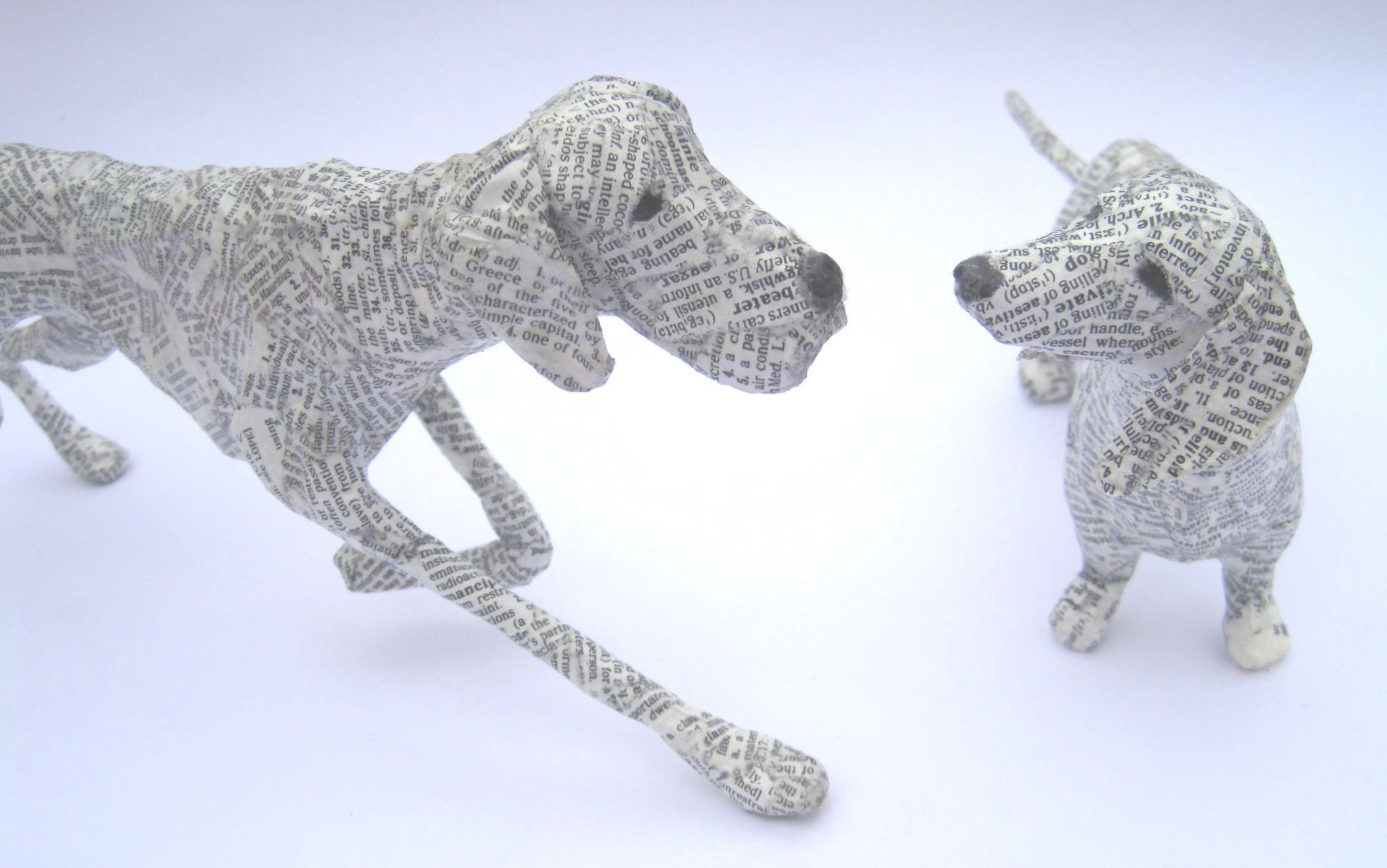 dogs paper mache lorraine corrigan 17 a skeptical designer. Black Bedroom Furniture Sets. Home Design Ideas