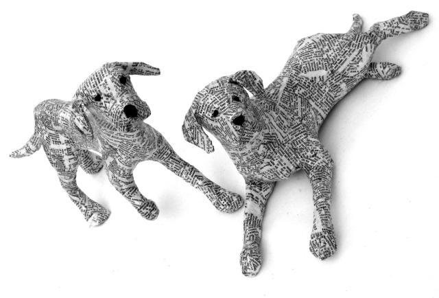 Dogs paper mache Lorraine Corrigan 18