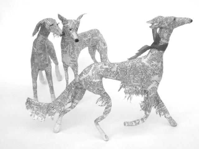 Dogs paper mache Lorraine Corrigan 19