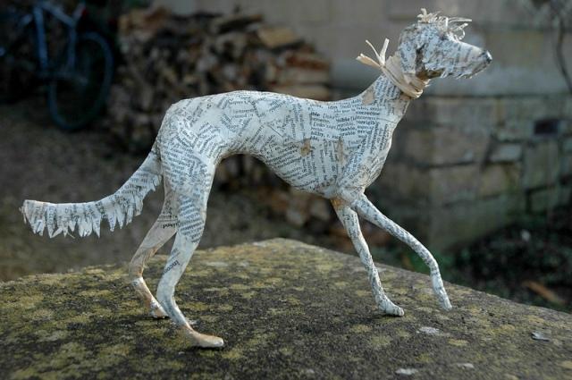 Dogs paper mache Lorraine Corrigan 2
