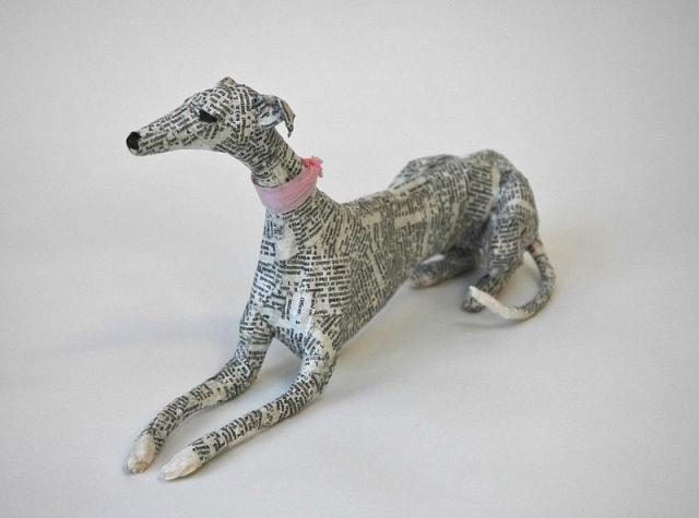 Dogs paper mache Lorraine Corrigan 4