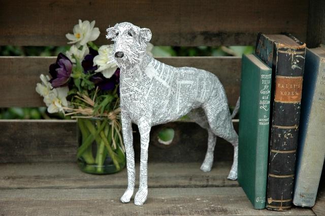 Dogs paper mache Lorraine Corrigan 5