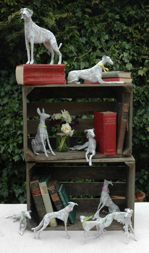 Dogs paper mache Lorraine Corrigan 6