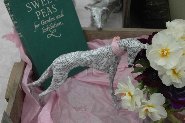 Dogs paper mache Lorraine Corrigan 8