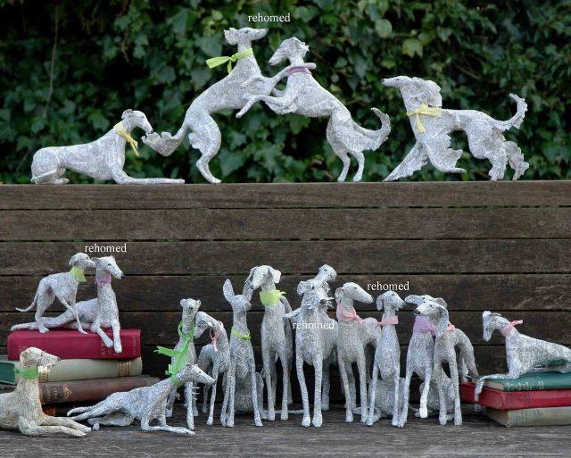Dogs paper mache Lorraine Corrigan 9