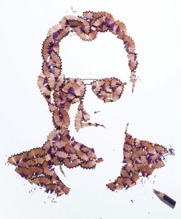 Playful pencil shavings portraits Kile Bean 2