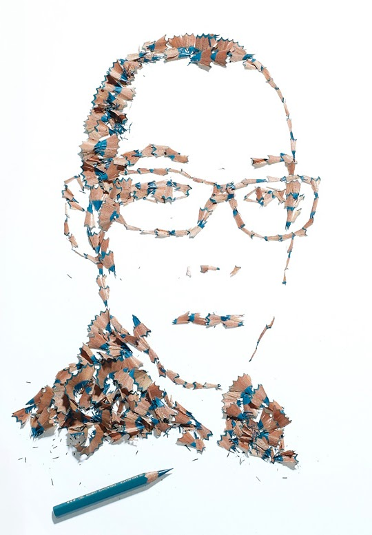 Playful pencil shavings portraits Kile Bean 3