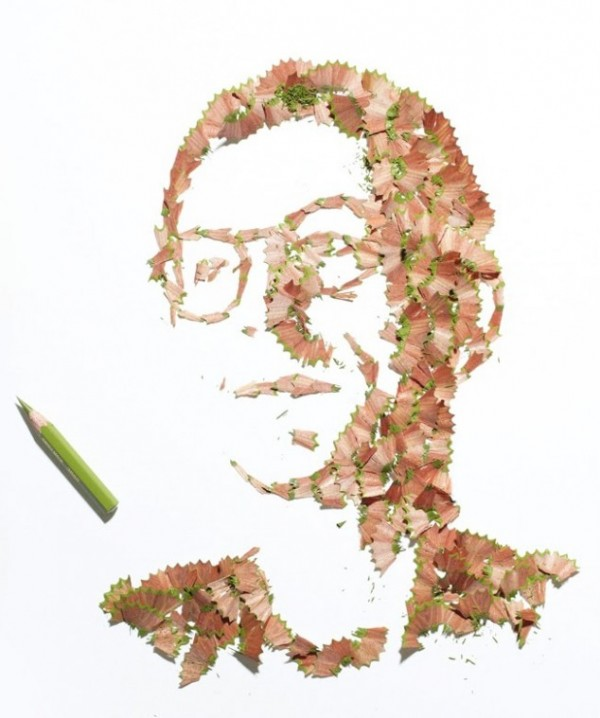 Playful pencil shavings portraits Kile Bean 4