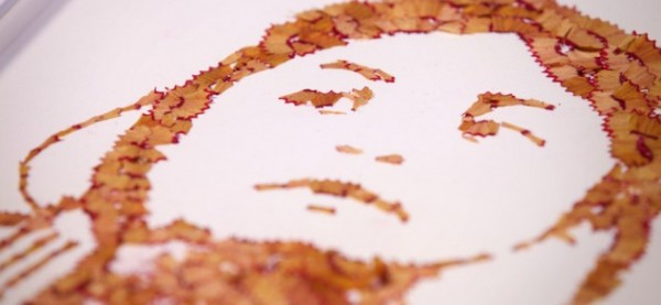 Playful pencil shavings portraits Kile Bean 5