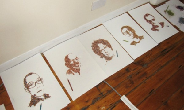 Playful pencil shavings portraits Kile Bean 6