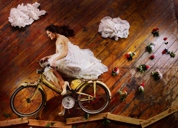 the flying bride illusion Ryan Brenizer