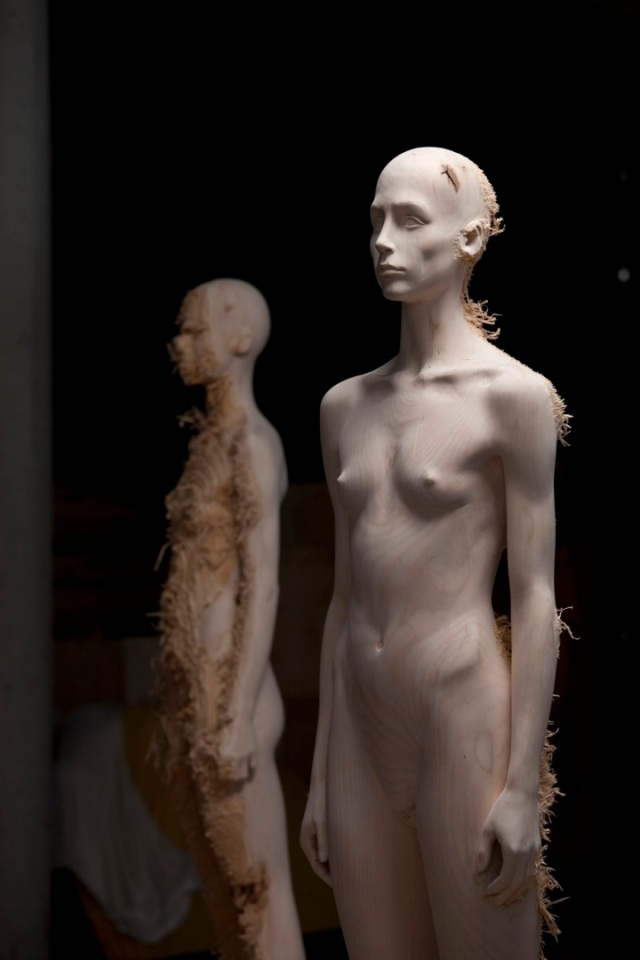 the tainted sculptures Aron Demetz 7