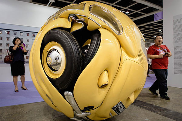VW Beetles Transformed into sphere and cube Ichwan Noor 2