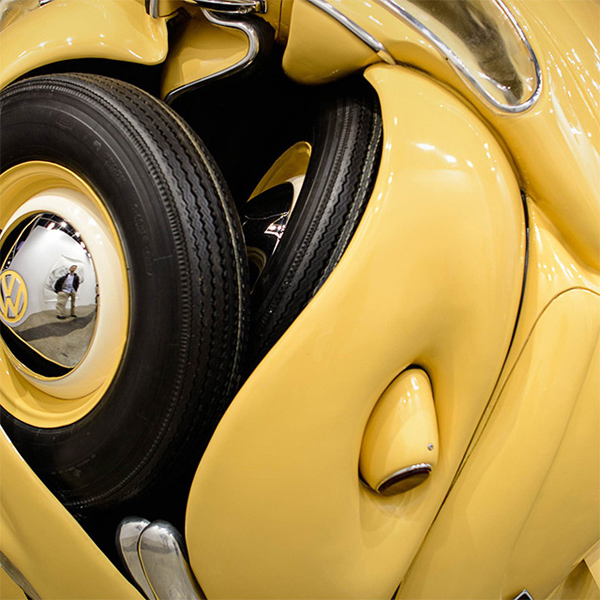 VW Beetles Transformed into sphere and cube Ichwan Noor 3