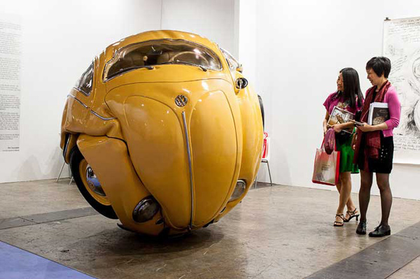 VW Beetles Transformed into sphere and cube Ichwan Noor 4