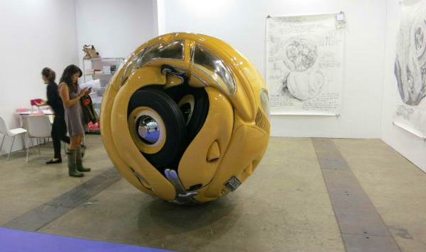 VW Beetles Transformed into sphere and cube Ichwan Noor 5