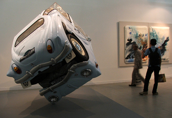 VW Beetles Transformed into sphere and cube Ichwan Noor  7