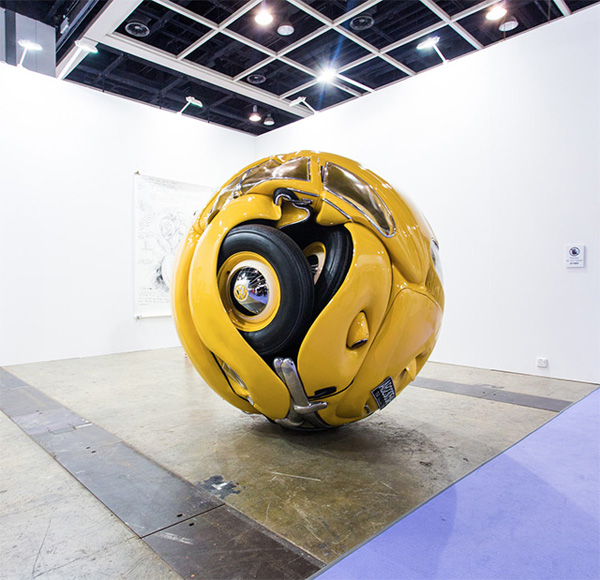 VW Beetles Transformed into sphere and cube Ichwan Noor
