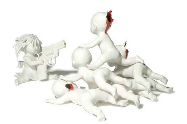 bloody ceramic sculptures Maria Rubinke 11