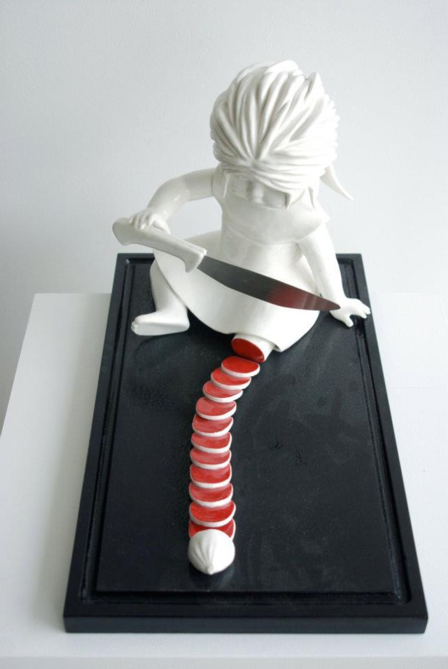 bloody ceramic sculptures Maria Rubinke 8