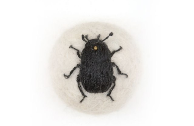 hand-embroiders insects Claire Moynihan 7