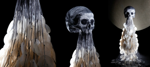 intricate skull sculptures Jim F. Faure 2