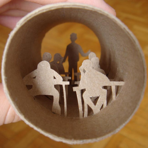 toilet paper roll art Anatassia Elias 10