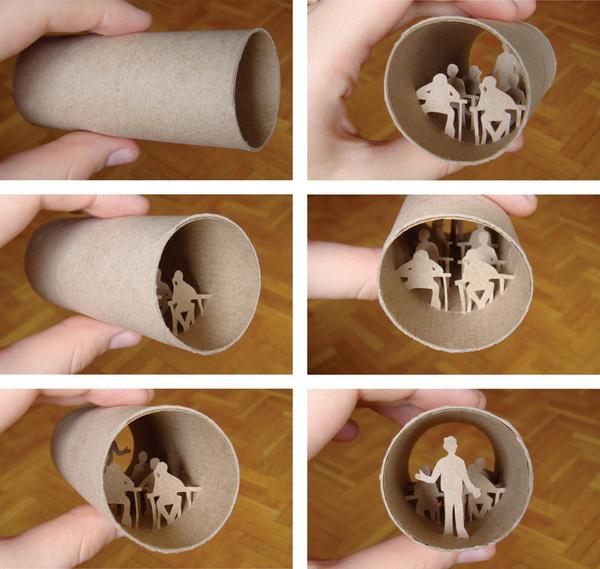 toilet paper roll art Anatassia Elias 11