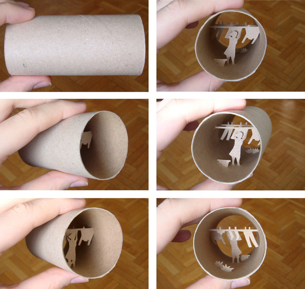 toilet paper roll art Anatassia Elias 13