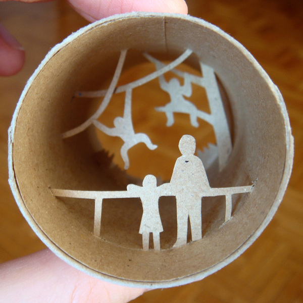 toilet paper roll art Anatassia Elias 17