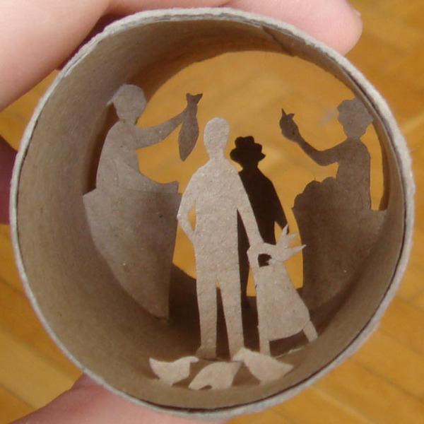 toilet paper roll art Anatassia Elias 7