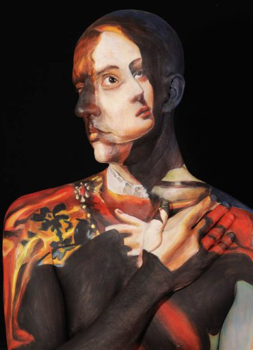 Museum Anatomy  Body painting illusion Chadwick and Spector 17