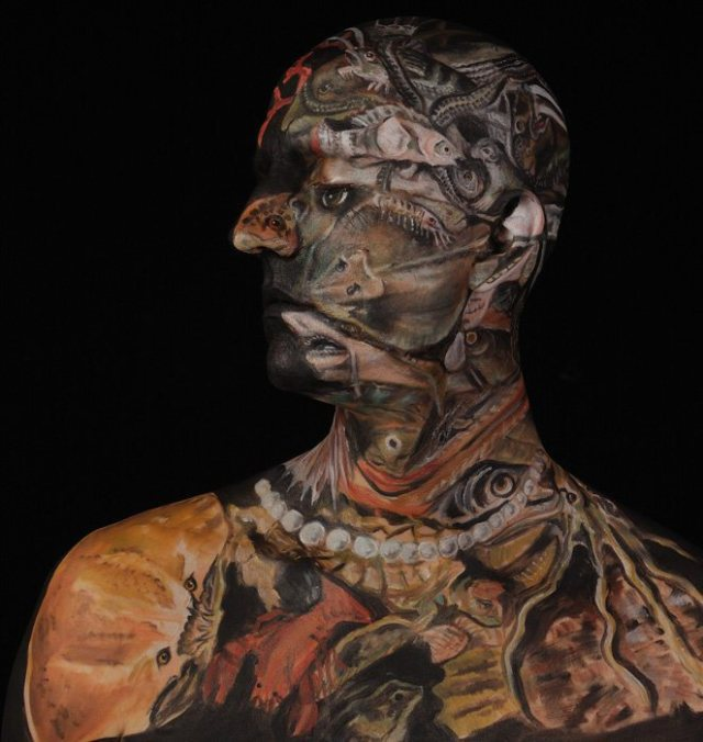 Museum Anatomy  Body painting illusion Chadwick and Spector 22