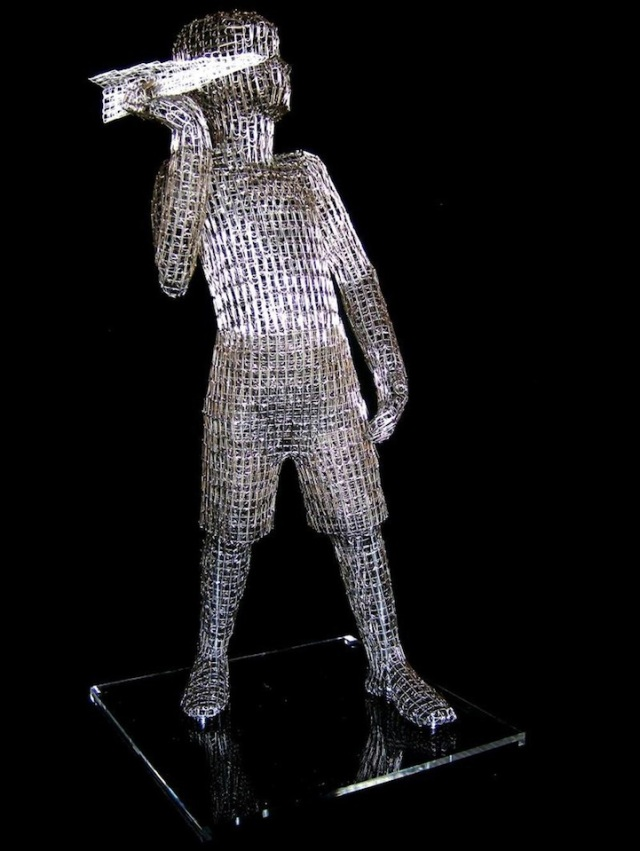 Paperclips Sculptures pietro dangelo 3