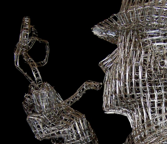 Paperclips Sculptures pietro dangelo