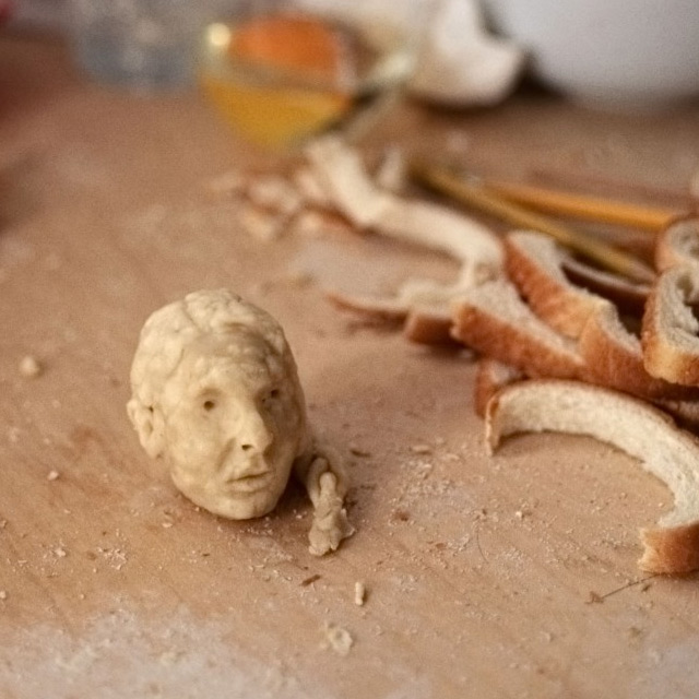 Tiny bread Sculptures Milena Korolczuk