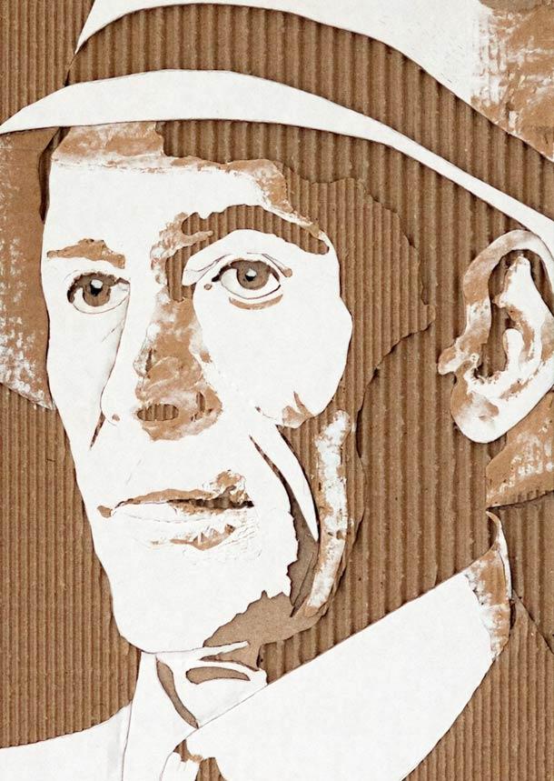 CARDBOARD PORTRAITS GILES OLDERSHAW 0