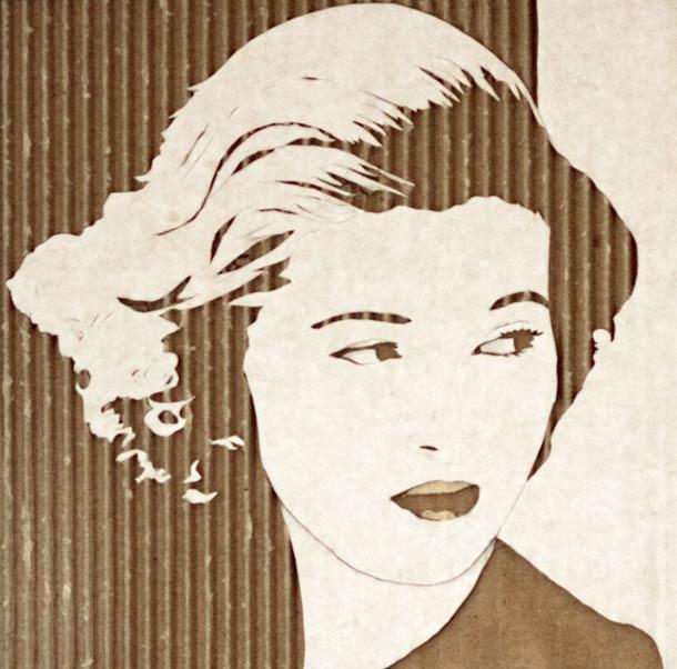 CARDBOARD PORTRAITS GILES OLDERSHAW 9
