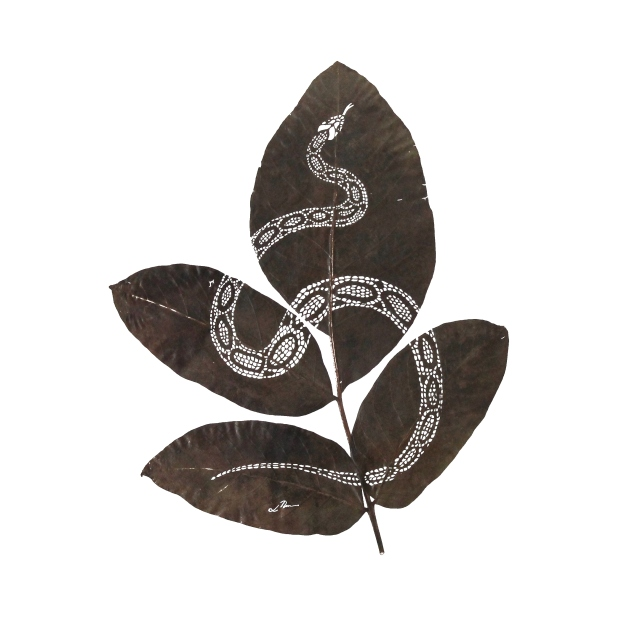 Lorenzo Manuel Durán leaf cutting art 3