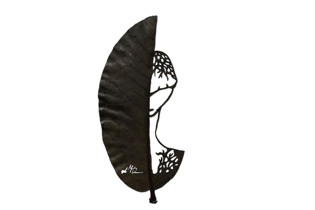 Lorenzo Manuel Durán leaf cutting art 5