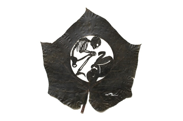 Lorenzo Manuel Durán leaf cutting art 9