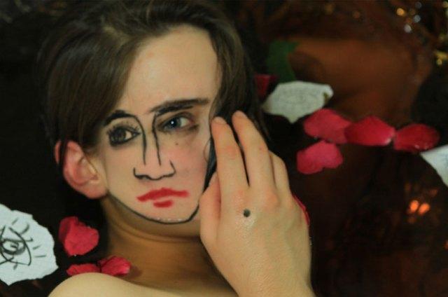 double-faced girl illusion sebastian bieniek 11