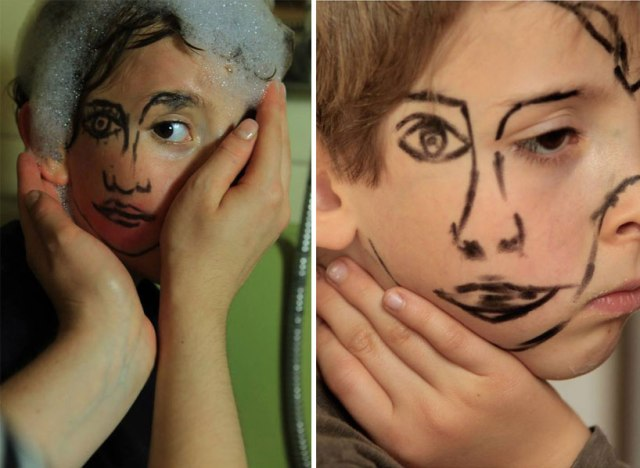 double-faced girl illusion sebastian bieniek 13
