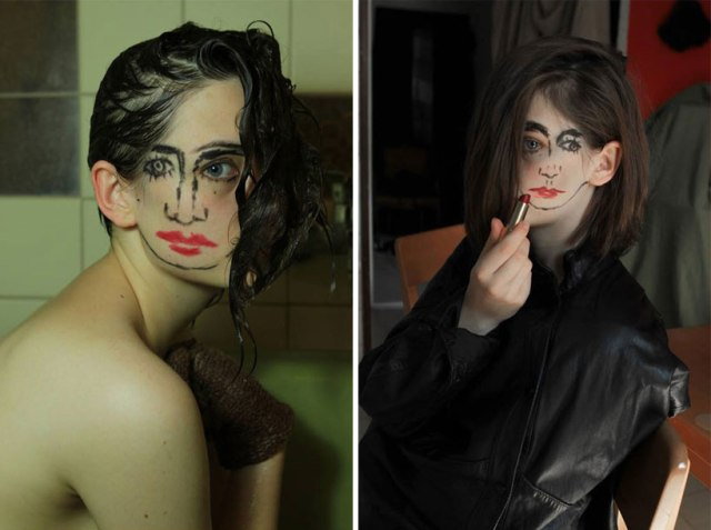 double-faced girl illusion sebastian bieniek 7