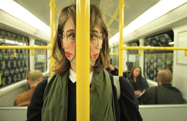 double-faced girl illusion sebastian bieniek