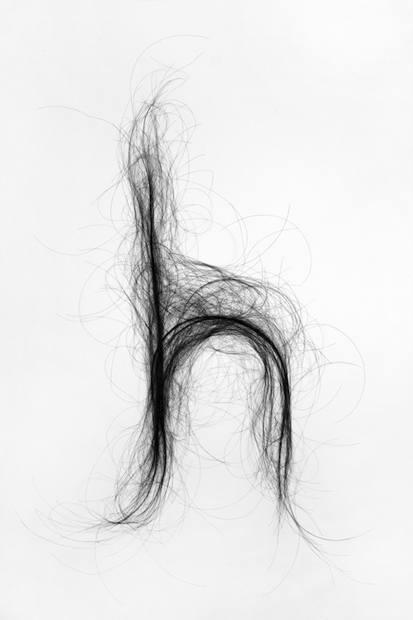 Human Hair Typography Monique Goossens 2