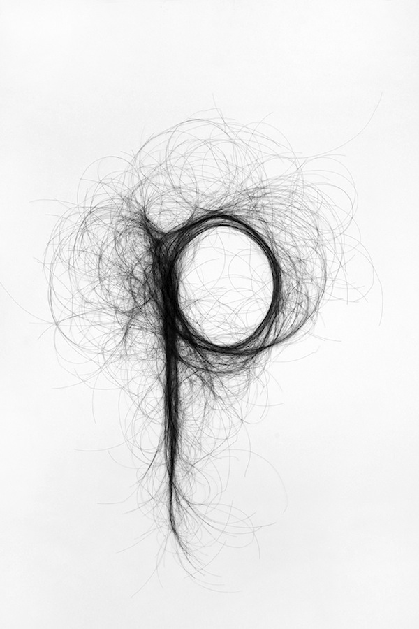 Human Hair Typography Monique Goossens 3