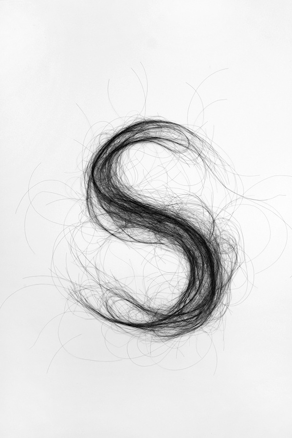 Human Hair Typography Monique Goossens 4