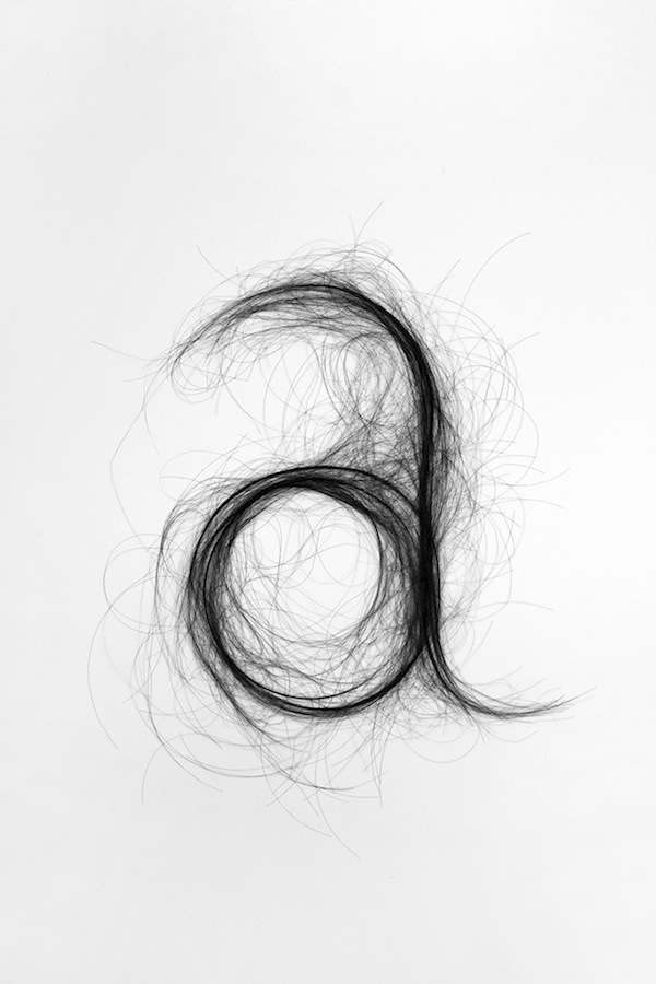 Human Hair Typography Monique Goossens 5