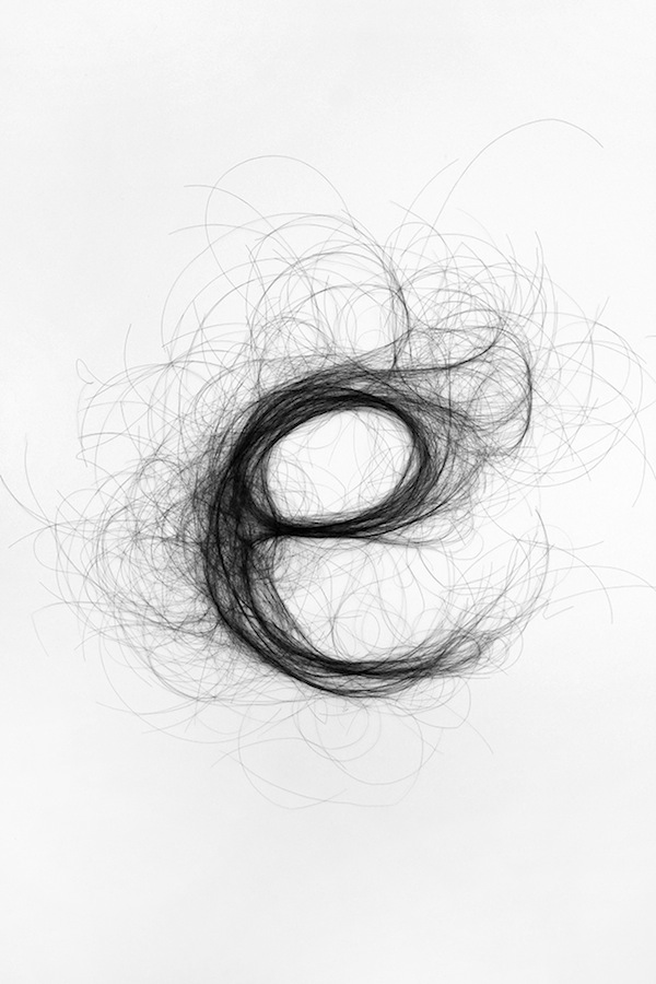 Human Hair Typography Monique Goossens